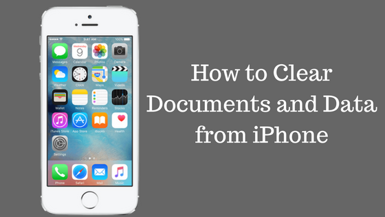 Delete documents and data from iphone site title for Documents and data on iphone clear